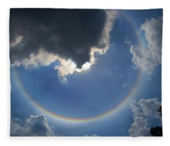 Circular Rainbow Fleece Blanket