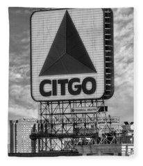 Citgo Sign Kenmore Square Boston Fleece Blanket