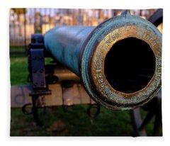 Civil War Cannon 1862 In Gettysburg Pa Fleece Blanket