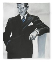 Clark Gable Fleece Blanket