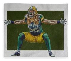 Clay Matthews Green Bay Packers Fleece Blanket