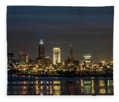 Cleveland Nights Fleece Blanket