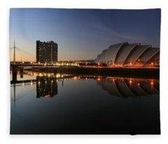 Clydeside Reflections  Fleece Blanket