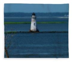Cockspur Island Lighthouse Fleece Blanket