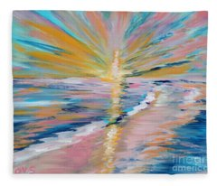 Collection. Art For Health And Life. Painting 5 Fleece Blanket