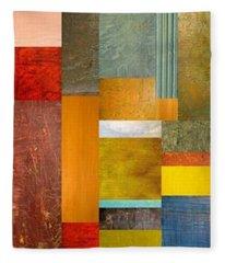 Color Panels With Blue Sky Fleece Blanket