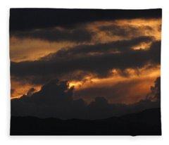Colorado Rocky Mountain Sky Fleece Blanket