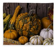 Colorful Autumn Still Life Fleece Blanket