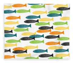 Fish Pond Fleece Blankets