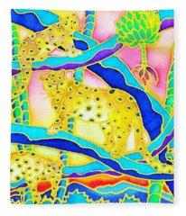 Colorful Tropics 6 Fleece Blanket
