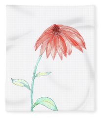 Cone Flower Fleece Blanket