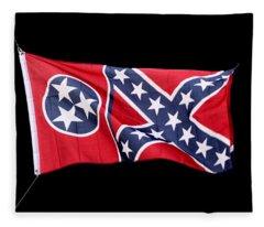 Confederate-flag Fleece Blanket