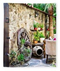 Courtyard Fleece Blanket