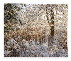 Covered In Snow Fleece Blanket