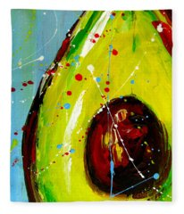 Crazy Avocado Fleece Blanket