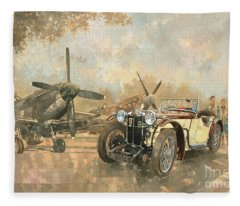 Cream Cracker Mg 4 Spitfires  Fleece Blanket