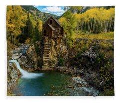 Crystal Mill Fleece Blanket
