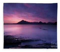 Cuillins At Sunset Fleece Blanket