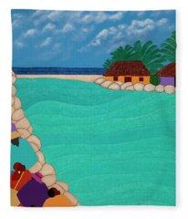 Curacao Lagoon Fleece Blanket