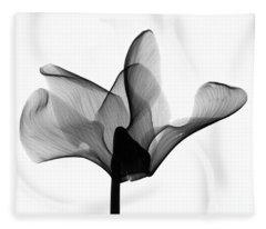 Cyclamen Flower X-ray Fleece Blanket
