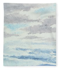 Dagrar Over Salenfjallen- Shifting Daylight Over Distant Horizon 9 Of 10_0029 Fleece Blanket