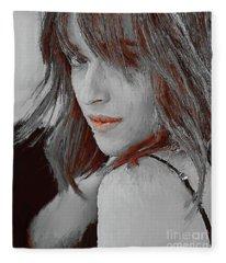 Dakota Johnson Actress Fleece Blanket