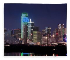 Dallas Skyline Cowboys Fleece Blanket