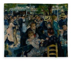 Dance At Le Moulin De La Galette  Fleece Blanket