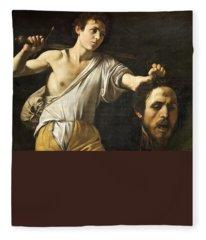 David With The Head Of Goliath Fleece Blanket