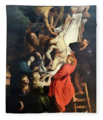 Descent From The Cross Fleece Blanket
