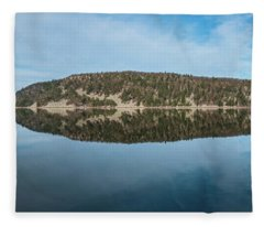 Devils Lake Fleece Blanket