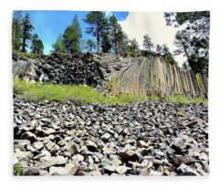 Devils Postpile Fleece Blanket