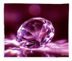 Fleece Blanket featuring the photograph Diamond  by Mats Silvan