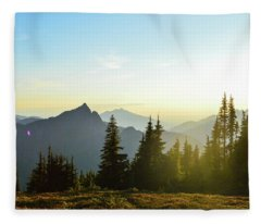 Dickerman Sunset Fleece Blanket