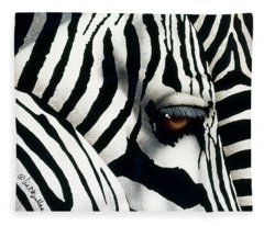 Do Zebras Dream In Color? Fleece Blanket
