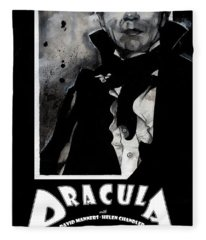 Dracula Movie Poster 1931 Fleece Blanket