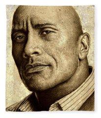 Dwayne The Rock Johnson Fleece Blanket