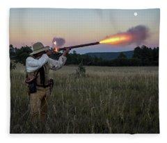 Early 1800's Flintlock Muzzleloader Blast Fleece Blanket