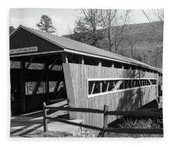 East And West Paden Twin Bridge Fleece Blanket