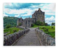 Eilean Donan Castle - -sct665549 Fleece Blanket