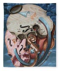 Einstein's Violin Fleece Blanket