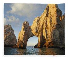 El Arco And Sea Stacks Cabo San Lucas Fleece Blanket