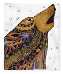 Eli Wolf Fleece Blanket