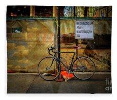 Emergency Bicycle Fleece Blanket