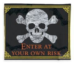 Enter At Your Own Risk  Fleece Blanket