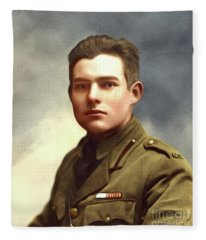 Ernest Hemingway, Literary Legend Fleece Blanket