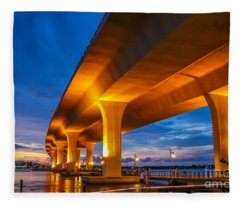 Evening On The Boardwalk Fleece Blanket