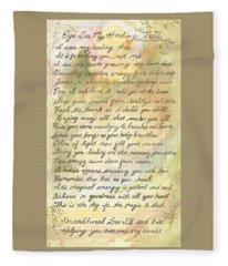 My Healing Tree Poem Fleece Blanket