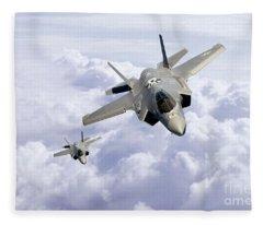 F35 Lightning II Fleece Blanket