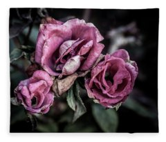 Fading Beauty Fleece Blanket
